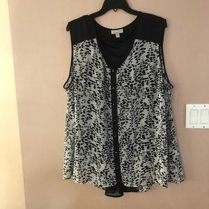 Dress Barn Woman's Plus Size Sleeveless Top 3X